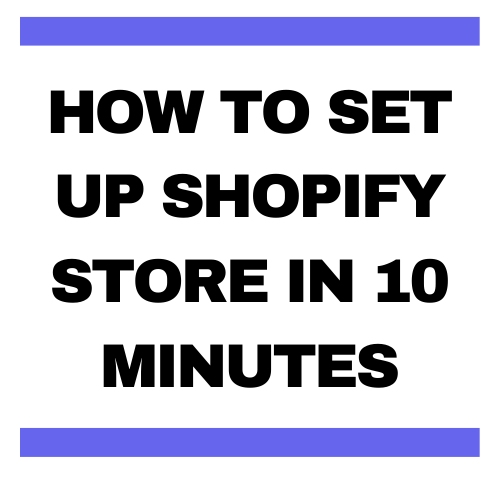 how to setup shopify store